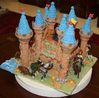 Narnia Chronicles Castle Birthday Cake