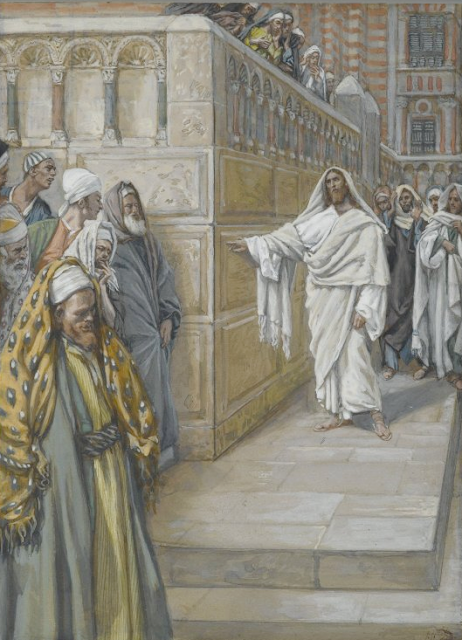"""The Cornerstone"" by James Tissot (1836-1902)"