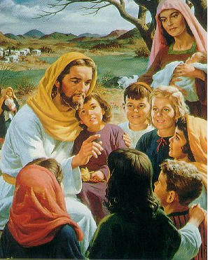 """The Little Children and Jesus"" - Artist unknown"