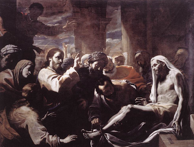 """The Raising of Lazarus"" by Mattia Preti, 1650s"