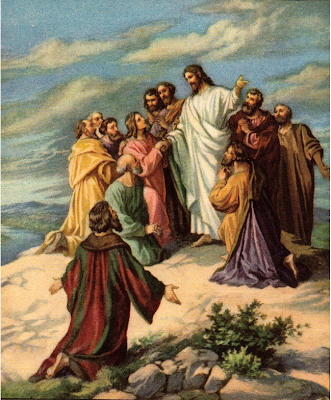 """Jesus before His return to heaven"" - Artist unknown"
