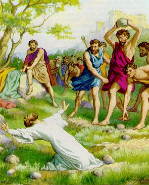 """The stoning of Stephen"" - Artist unknown"
