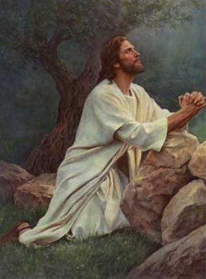 Jesus praying in the Garden - Artist unknown