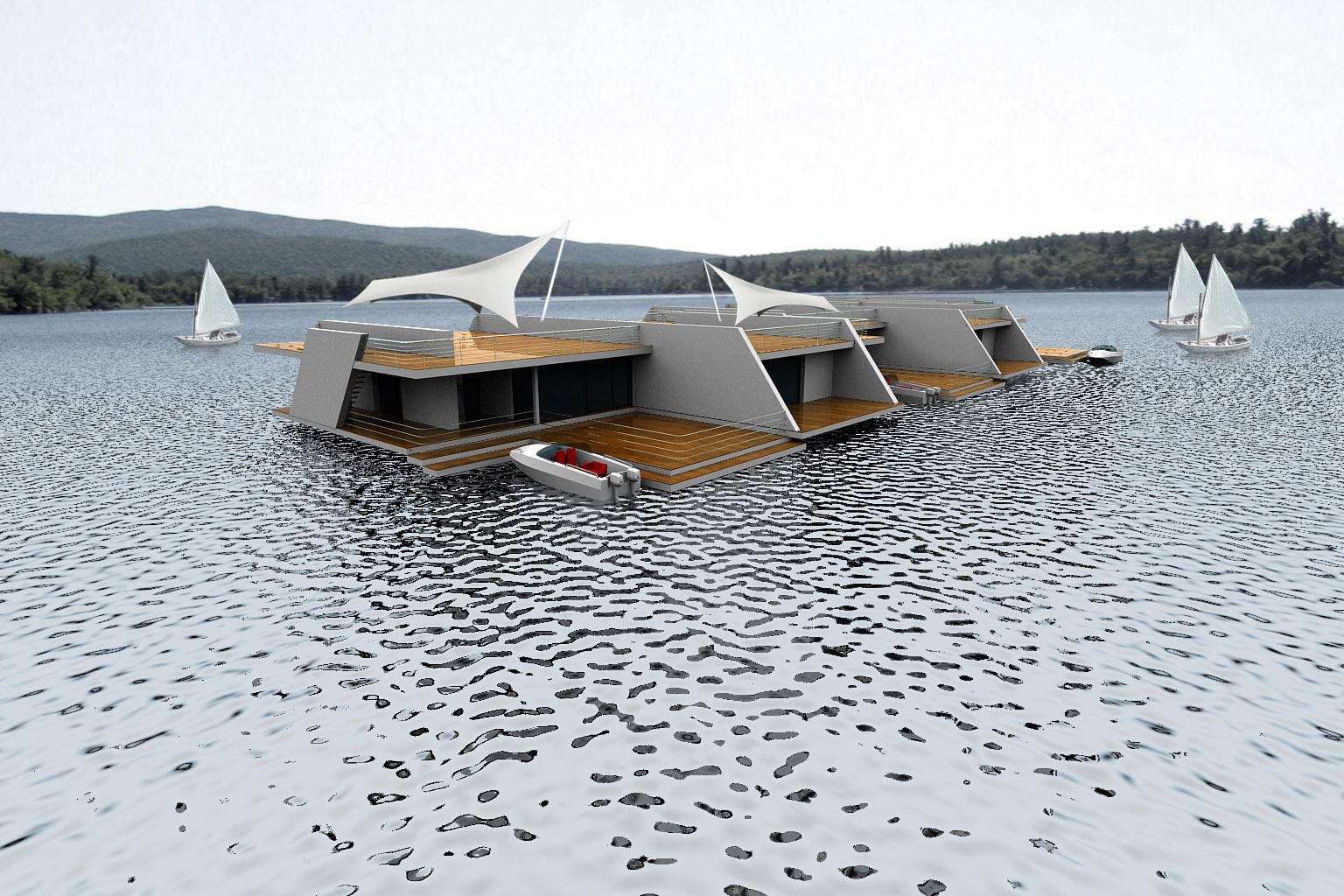 Floating Homes Modern Design By Moderndesign Org