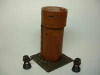 40k terrain battlefield scenery 25-28 mm watch tower battle damaged
