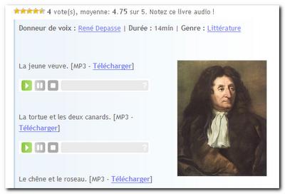 Littérature audio.com   الأدب الفرنسى بالصوت