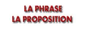 La Phrase — La Proposition     الجملة الفرنسية والإقتراح