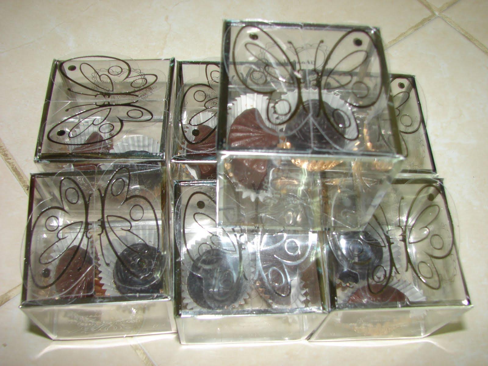 Contoh Door Gift: Homemade Coklat & Cupcake House: Contoh Choc Door Gift