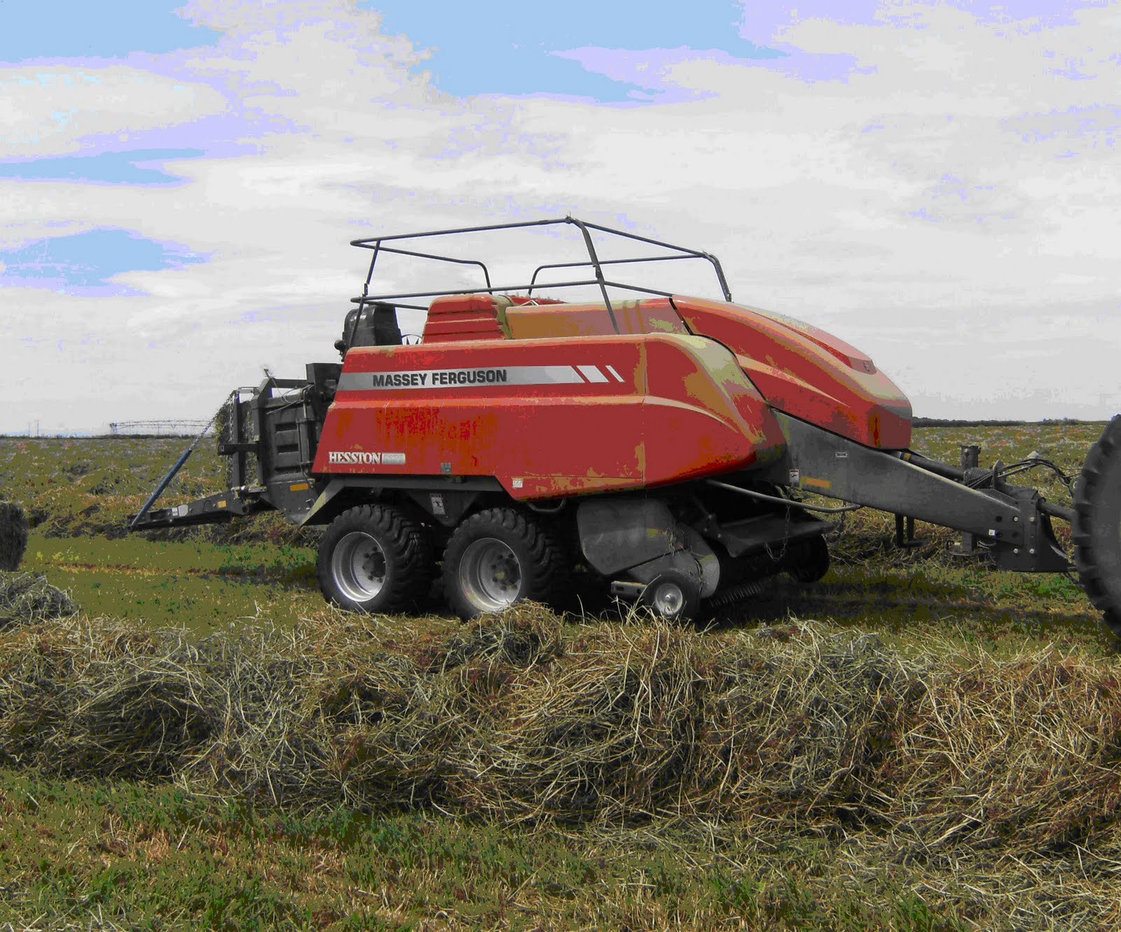 We are monitoring the productivity of the balers by using the AGCO HayBoss  G2 Tagger, moisture sensor, preservative applicator as well as the AGCO ...
