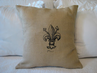Cordelias Cottage Fresh Linen  Burlap Pillows