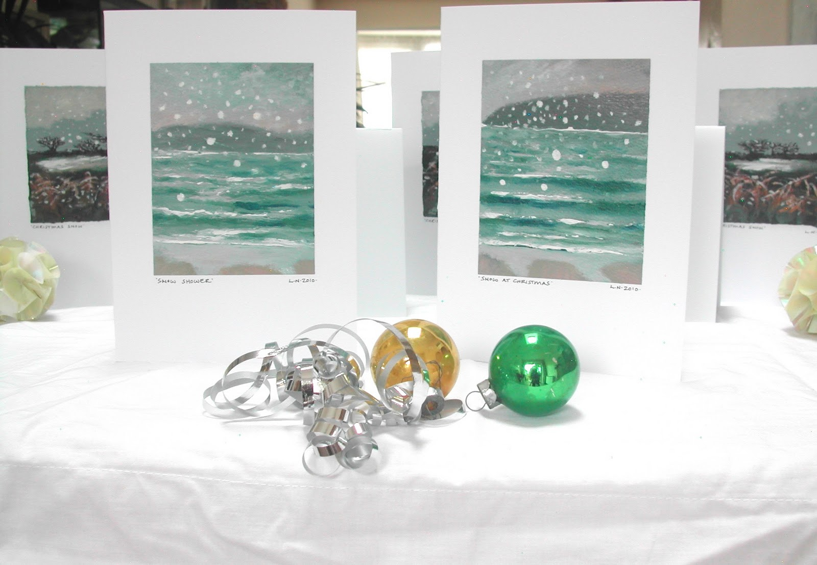 Hand painted Christmas cards