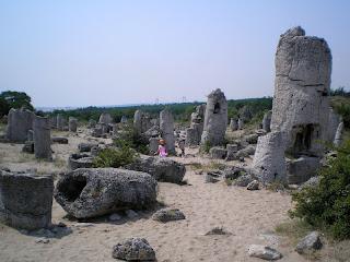 пустотелые камни лежат и стоят здесь около 50 млн. лет