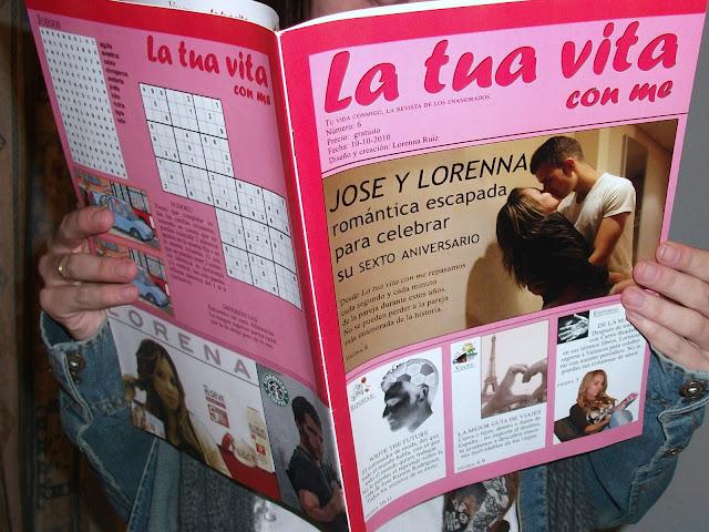 Revista personalizada aniversario novios