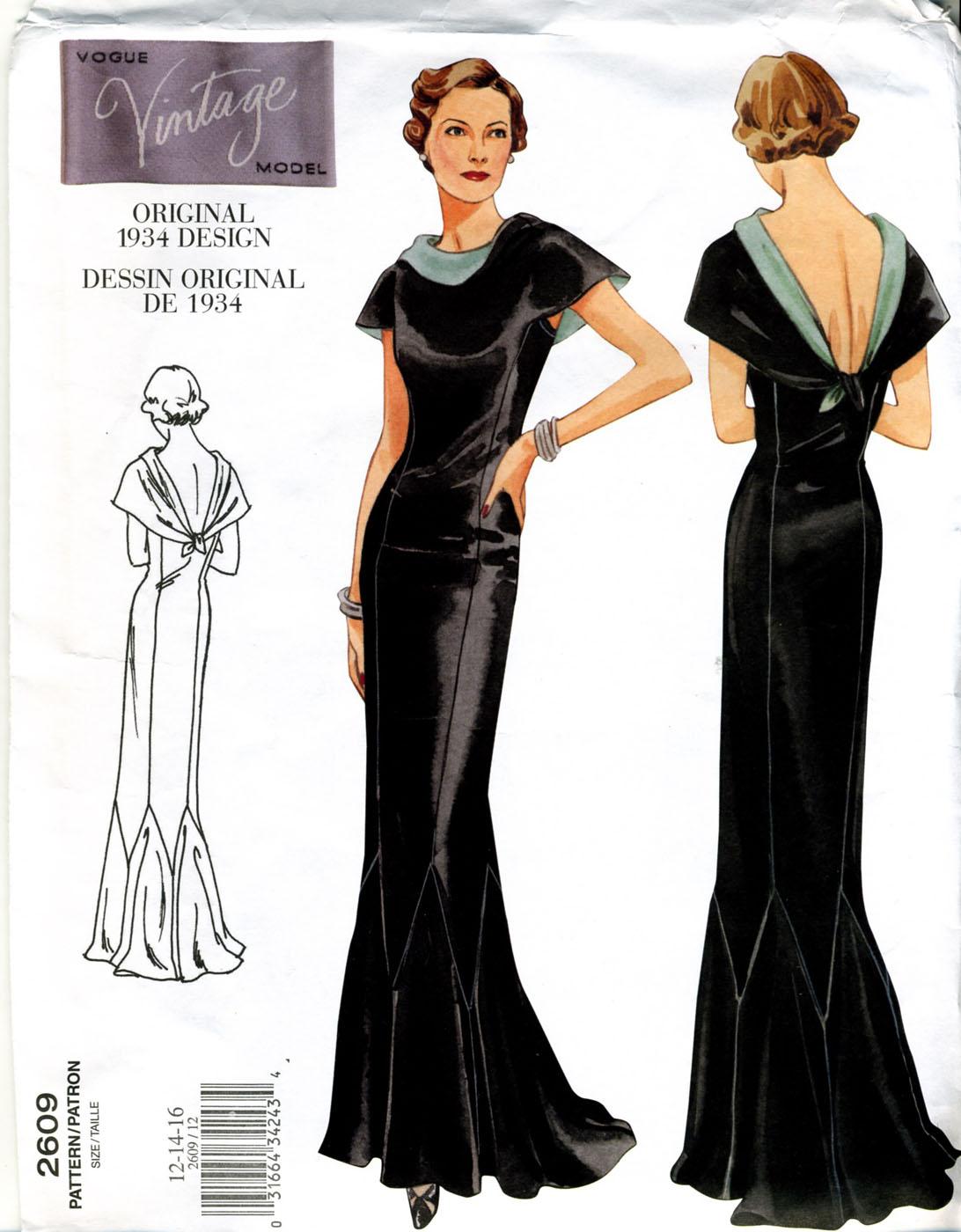 Vintage Vogue Dress Patterns 74