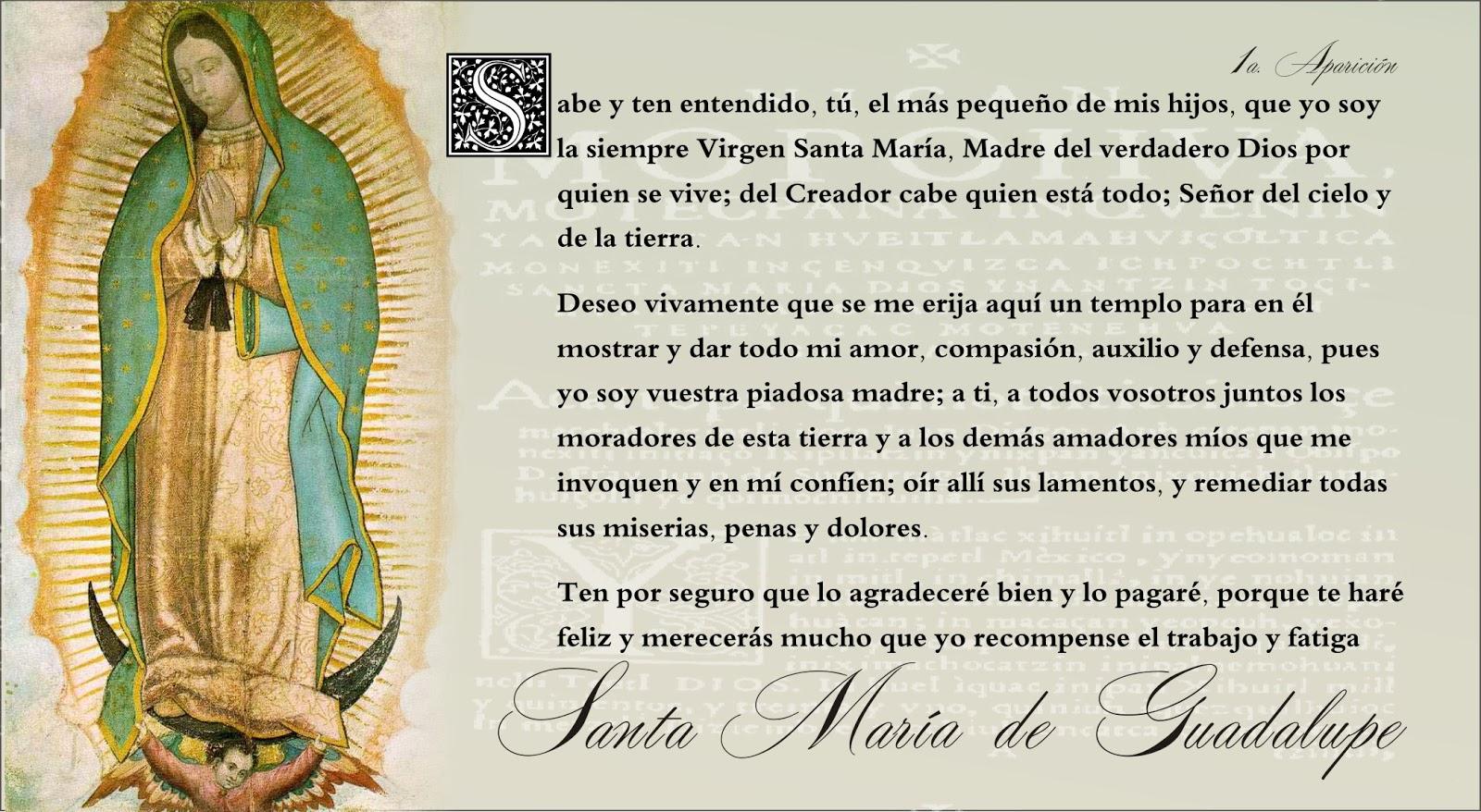 Tarjetas Y Oraciones Catolicas Tarjetas Virgen De Guadalupe