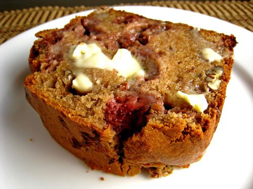 Strawberry Sour Cream Bread with Melting Butter