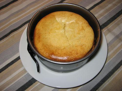 White Chocolate Cheesecake in Pan