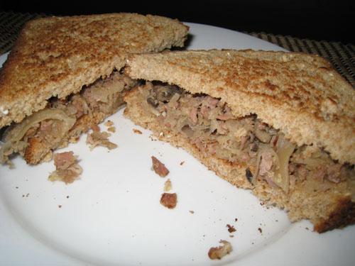 Grandma's Pirogi Filling Sandwich
