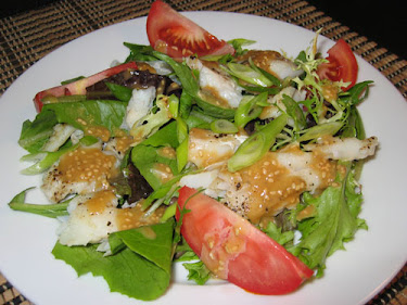 Cod Salad with Sesame Dressing