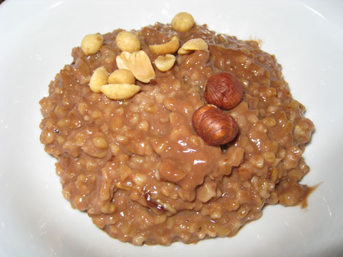 Chocolate and Peanut Butter Oatmeal