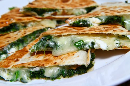 Spinach and Feta Quesadillas