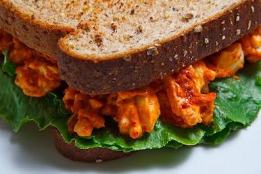 Kimchi Egg Salad Sandwich