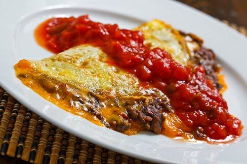 Black Bean Guacamole Omelette