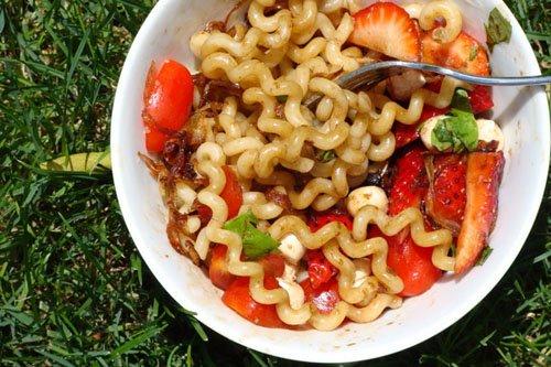 Strawberry Tomato Caprese Fusili
