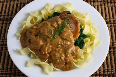 Pork Chops in a Mushroom Paprika Sauce