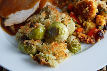 Roasted Brussels Sprouts au Gratin