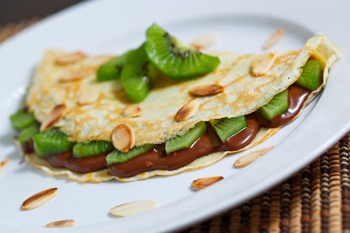 Kiwi and Nutella Crepes