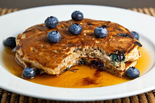 Great Blueberry Cottage Cheese Pancakes