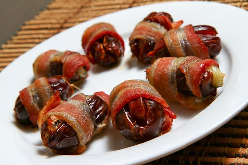 Bacon Wrapped Stuffed Medjool Dates