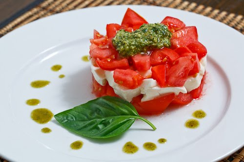 Stacked Diced Caprese Salad