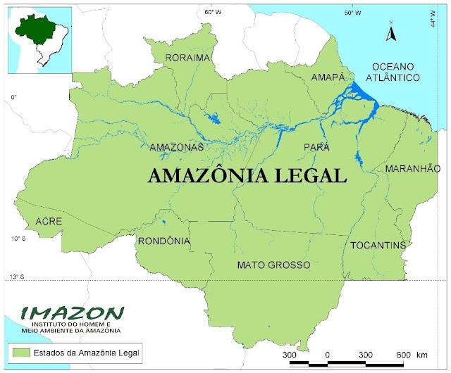 Resultado de imagem para amazonia mapa