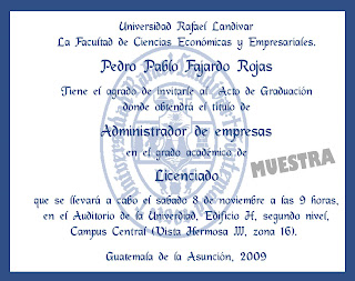 Invitaciones Exclusivas Graduacion Universidad