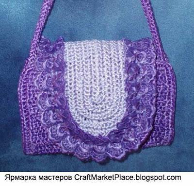 Ксения Заходенко - вязаные сумки.