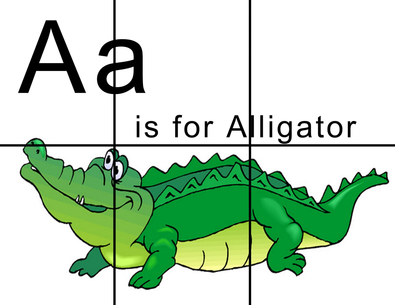 Lawteedah Letter A Alligator