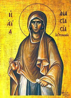 ST. ANASTASIA the Roman, Martyr