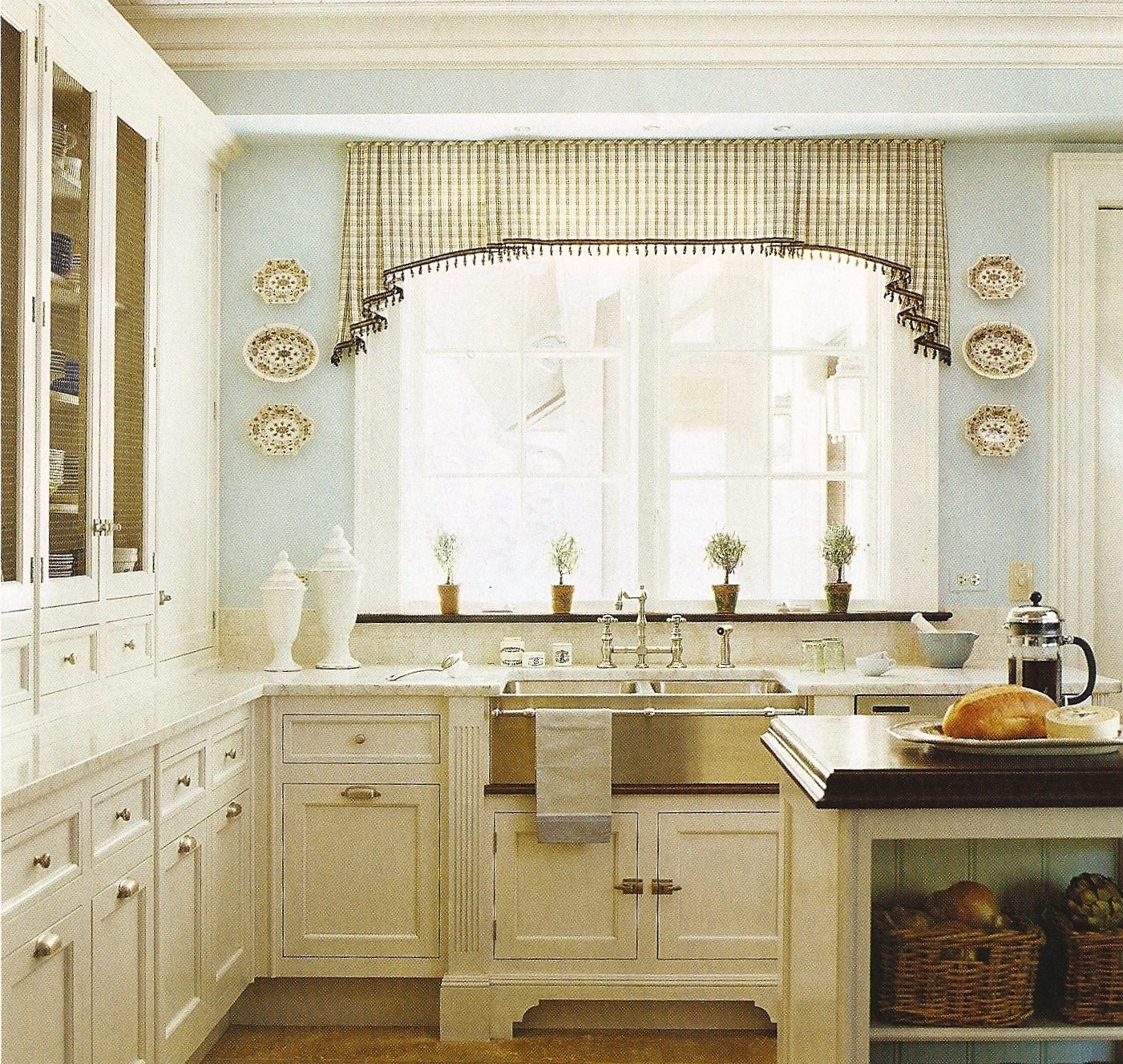 Wood Valance Over Kitchen Sink: Design Dump: White Kitchen + Wood Countertops