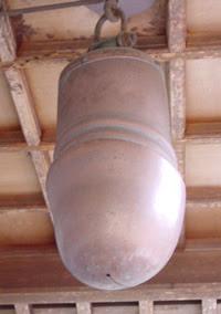 Phallus shaped bell at Tagata Jinja