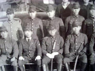 Japanese soldiers at Matsushiro Daihonei, Nagano