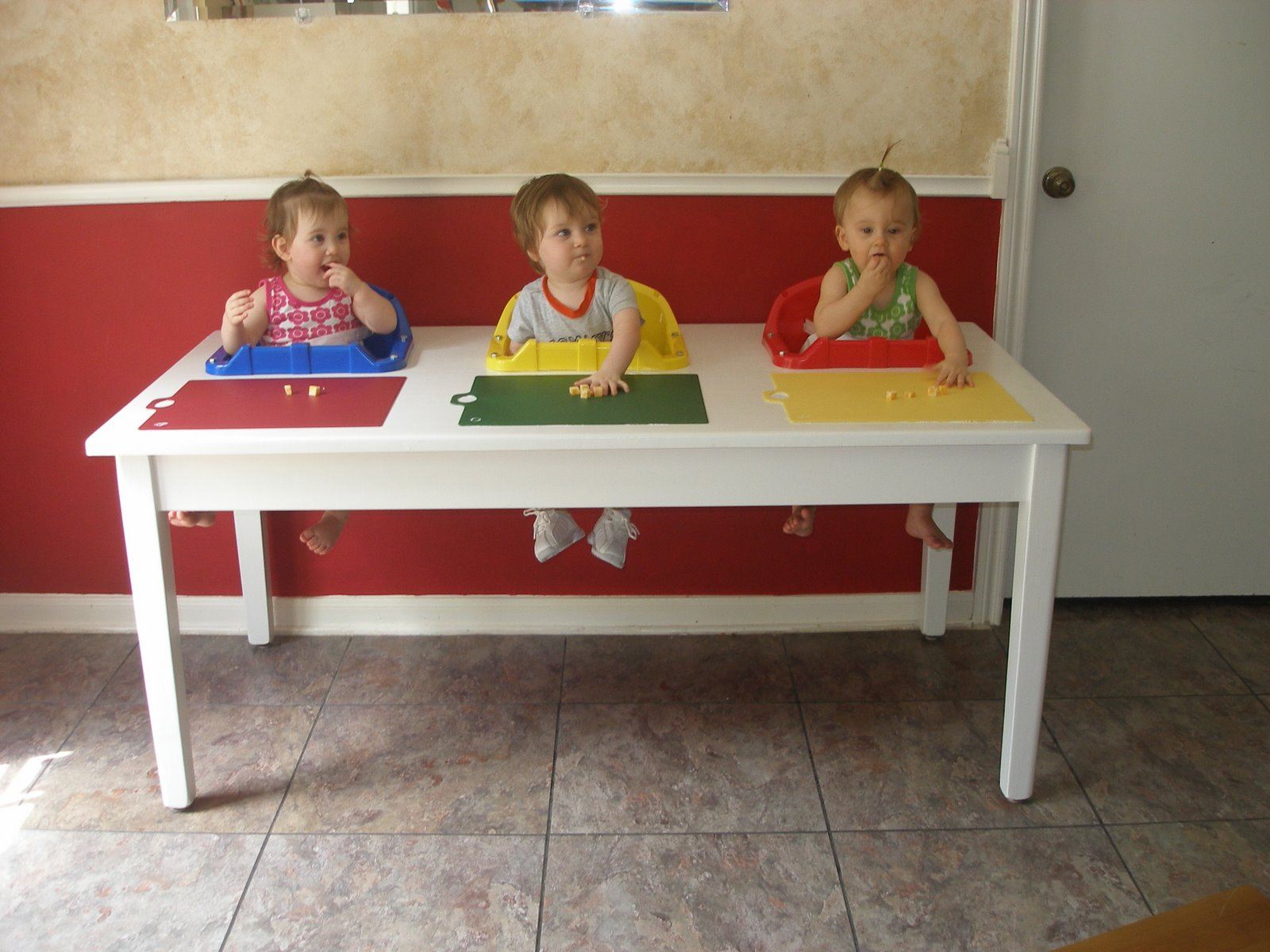 surviving triplets goodbye feeding table goodbye. Black Bedroom Furniture Sets. Home Design Ideas