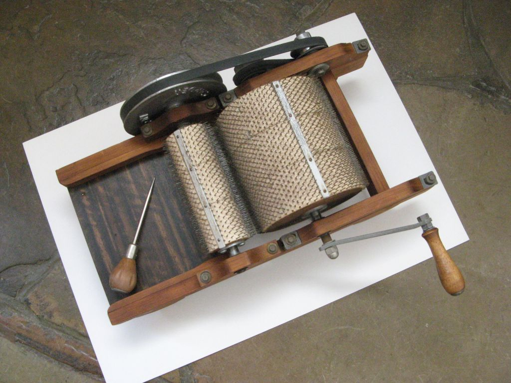 My Drum Carder Is Here Natural Suburbia
