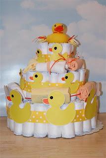 How To Make A Duck Bath Diaper Cake