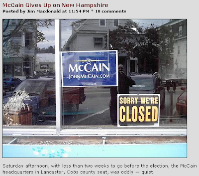 McCain campaign: Closed