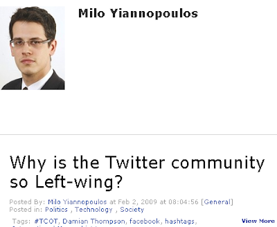 Milo Yiannopoulos frets about liberals dominating on Twitter