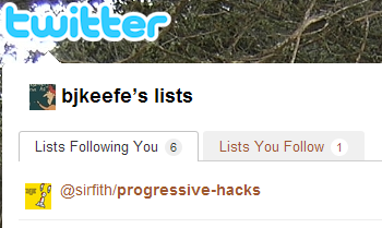 My name on a Twitter list: sirfith's 'progressive-hacks'