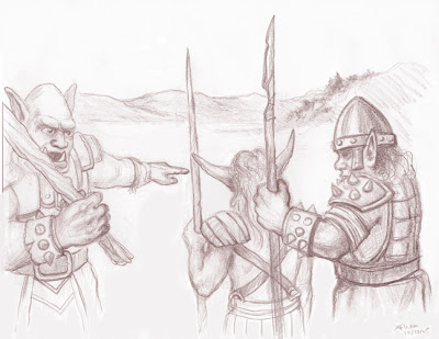 orcs fantasy art drawing