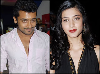 Actor Surya and Shruthi Haasan